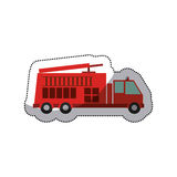 Isolated fire truck vehicle design. Fire truck vehicle icon. Emergency tool rescue save and department theme. Isolated design. Vector illustration Royalty Free Stock Photo