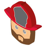 Isolated fireman avatar. Isolated avatar of a fireman, Vector illustration Royalty Free Stock Image