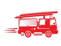 Isolated firetruck illustration. Isolated illustration of a red firetruck vector illustration