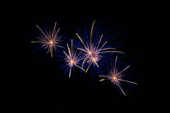 Isolated fireworks Royalty Free Stock Photos
