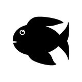 Isolated fish animal cartoon design. Fish animal cartoon icon. Sea life ecosystem fauna and ocean theme. Isolated and silhouette design. Vector illustration Royalty Free Stock Images