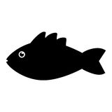 Isolated fish animal cartoon design. Fish animal cartoon icon. Sea life ecosystem fauna and ocean theme. Isolated and silhouette design. Vector illustration Royalty Free Stock Photo