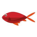 Isolated fish animal cartoon design. Fish animal cartoon icon. Sea life ecosystem fauna and ocean theme. Isolated design. Vector illustration Royalty Free Stock Images