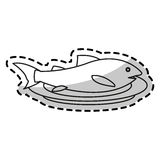 Isolated fish food design. Fish icon. Healthy organic fresh and natural food theme. Isolated design. Vector illustration Royalty Free Stock Photos