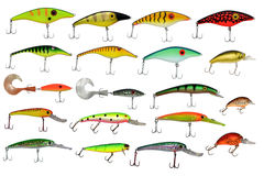Isolated fishing baits Stock Photo