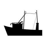 Isolated fishing boat design Stock Photography