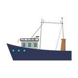 Isolated fishing boat design Royalty Free Stock Photo