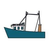 Isolated fishing boat design Stock Image