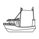 Isolated fishing boat design Stock Photos