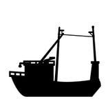Isolated fishing boat design Royalty Free Stock Image