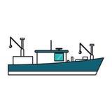 Isolated fishing boat ship design Royalty Free Stock Image