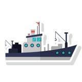 Isolated fishing boat ship design Royalty Free Stock Photo