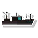 Isolated fishing boat ship design Stock Photo