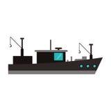 Isolated fishing boat ship design Stock Photos
