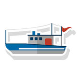 Isolated fishing boat ship design Royalty Free Stock Photography