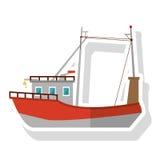 Isolated fishing boat ship design Stock Photography