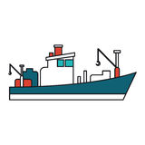 Isolated fishing boat ship design Stock Image