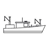 Isolated fishing boat ship design Stock Images