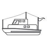 Isolated fishing boat ship design Royalty Free Stock Images