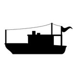 Isolated fishing boat ship design Royalty Free Stock Photos