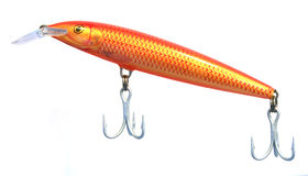 Isolated fishing lure. On white background stock photography