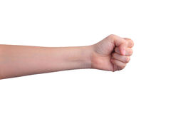 Isolated fist hand Royalty Free Stock Photos
