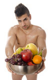 Eat fruit is sexy. Stock Photography