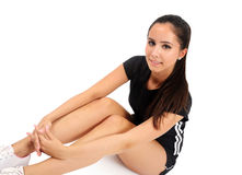 Isolated fitness girl Stock Image