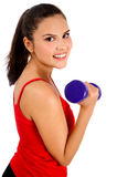 Isolated fitness woman Royalty Free Stock Photography