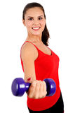 Isolated fitness woman Royalty Free Stock Image