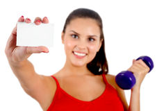 Isolated fitness woman Stock Photo