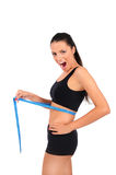Isolated fitness woman Stock Image