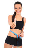 Isolated fitness woman Stock Photography