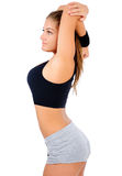 Isolated fitness woman Stock Images