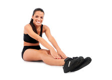 Isolated fitness woman Royalty Free Stock Photo