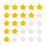 Isolated Five Four Three Two and One Star Rating Icons. Set stock illustration