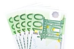 Isolated five hundred euros Royalty Free Stock Photography