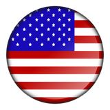 Isolated flag button stock illustration