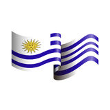 Isolated flag of Uruguay Stock Photo