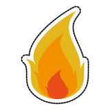 Isolated flame design. Flame icon. Fire bonfire hot burn and light theme. Isolated design. Vector illustration Royalty Free Stock Images