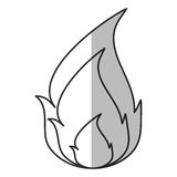 Isolated flame design. Flame icon. Fire bonfire hot burn and light theme. Isolated design. Vector illustration Royalty Free Stock Photo