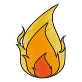 Isolated flame design. Flame icon. Fire bonfire hot burn and light theme. Isolated design. Vector illustration Stock Photography