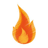 Isolated flame design Royalty Free Stock Photo