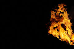 Isolated flames Stock Photography