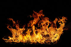 Isolated flames Royalty Free Stock Image