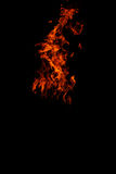 Isolated flames Royalty Free Stock Images