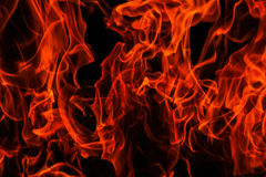 Isolated flames Royalty Free Stock Photos