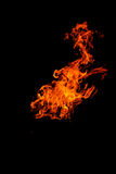 Isolated flames Stock Photos