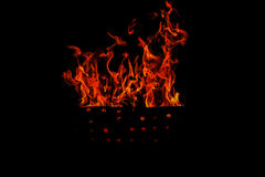 Isolated flames Royalty Free Stock Photo