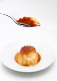 Isolated flan detail Stock Images